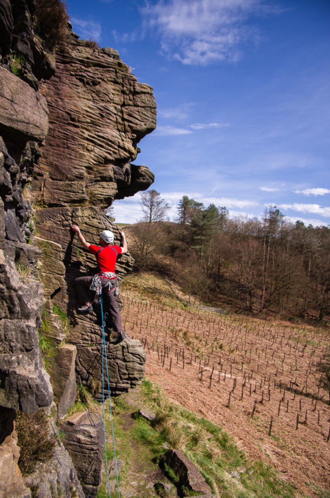 Mike Fields on Pagan Wall, Cadshaw