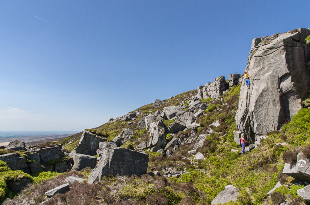 Alex Barber on The Fireman's Slippery Pole, HVS, Thorn Crag