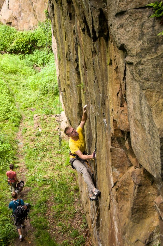 Dave Mann on Gauntlet Route, E3, Ousels Nest